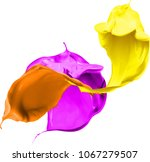 colored splashes in abstract... | Shutterstock . vector #1067279507