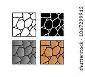 stone wall set | Shutterstock .eps vector #1067299913