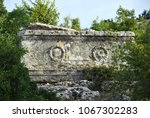 roman tomb at the ancient... | Shutterstock . vector #1067302283