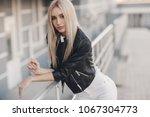 portrait of young beautiful... | Shutterstock . vector #1067304773
