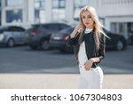 portrait of young beautiful... | Shutterstock . vector #1067304803