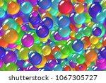 seamless repeating dark blue... | Shutterstock . vector #1067305727