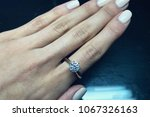 diamond solitaire ring | Shutterstock . vector #1067326163