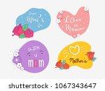 vector card for happy mother's... | Shutterstock .eps vector #1067343647