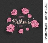 vector card for happy mother's... | Shutterstock .eps vector #1067343653