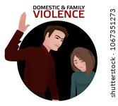 domestic   family violence. a... | Shutterstock .eps vector #1067351273