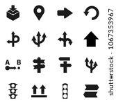 flat vector icon set   arrow up ... | Shutterstock .eps vector #1067353967