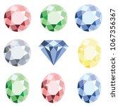 set of precious stones crystal... | Shutterstock .eps vector #1067356367