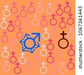 vector illustration hiv virus... | Shutterstock .eps vector #1067361443
