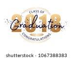 graduation label.  text for... | Shutterstock . vector #1067388383