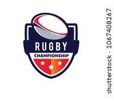 rugby logo  american logo sport | Shutterstock .eps vector #1067408267