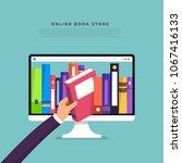 flat design concept online... | Shutterstock .eps vector #1067416133
