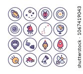 space icons made in modern line ...   Shutterstock .eps vector #1067419043