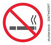 no smoking glyph icon ... | Shutterstock .eps vector #1067440397
