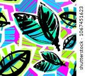 seamless brushpen textile... | Shutterstock .eps vector #1067451623