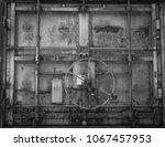 Old Metal Train Door