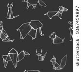origami   seamless pattern with ... | Shutterstock .eps vector #1067459897