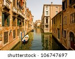 Romantic canal in Venice. - stock photo