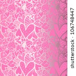 doodle textured hearts seamless ... | Shutterstock .eps vector #106748447