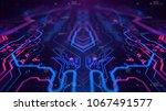 kaleidoscope vivid pink. micro...   Shutterstock . vector #1067491577
