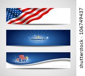 flag banners collection... | Shutterstock .eps vector #106749437