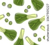 leek hand drawn seamless... | Shutterstock .eps vector #1067505227