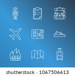 travel icon set and picnic with ... | Shutterstock .eps vector #1067506613