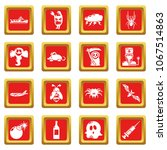 fears phobias icons set vector... | Shutterstock .eps vector #1067514863