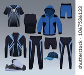 set of sport wear collection | Shutterstock .eps vector #1067536133