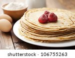 stack of freshly made crepes | Shutterstock . vector #106755263