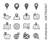 map pin icon set | Shutterstock .eps vector #1067562467