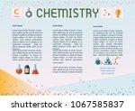 chemistry template design... | Shutterstock .eps vector #1067585837