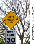 Speed Enforcement Road Sign