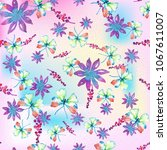 watercolor natural seamless... | Shutterstock . vector #1067611007