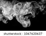 dense white smoke on a black... | Shutterstock . vector #1067620637