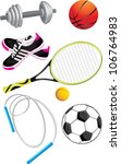 sports objects isolated on the... | Shutterstock .eps vector #106764983