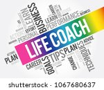 life coach word cloud collage ... | Shutterstock .eps vector #1067680637