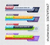set of breaking news title... | Shutterstock .eps vector #1067695667