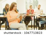 education  high school  digital ... | Shutterstock . vector #1067713823