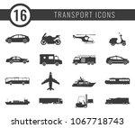 transportation icons set. city... | Shutterstock .eps vector #1067718743
