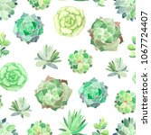 watercolor seamless pattern... | Shutterstock . vector #1067724407