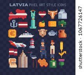 latvia elements of culture... | Shutterstock .eps vector #1067726147