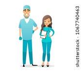 doctor and nurse team. cartoon...   Shutterstock .eps vector #1067740463