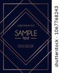 geometric rose gold design...   Shutterstock .eps vector #1067768243