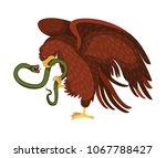 eagle devouring snake mexican... | Shutterstock .eps vector #1067788427