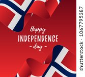 banner or poster of norway... | Shutterstock .eps vector #1067795387