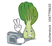 photographer bok choy mascot...   Shutterstock .eps vector #1067798633