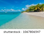 paradisiacal landscape of the... | Shutterstock . vector #1067806547
