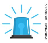 ambulence siren icon. flat... | Shutterstock .eps vector #1067809277