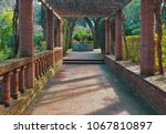 red bricks of park lane in... | Shutterstock . vector #1067810897